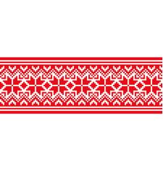 scandinavian national ornament vector image