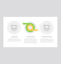 set green and orange elements for infographic vector image
