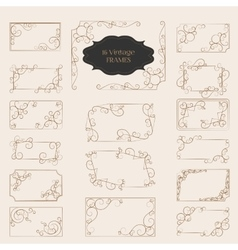 Set of Art Deco Frame Elegant Border Flourishes vector image