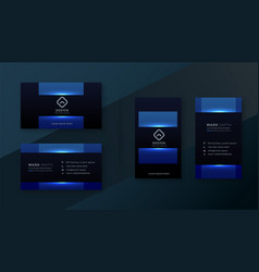 Shiny blue attractive business card template vector