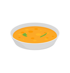 soup chicken dish with onion bowl vector image