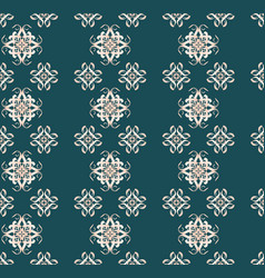 Symmetrical seamless pattern with calligraphic vector