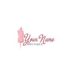 tailor mannequin vintage fashion retro logo vector image