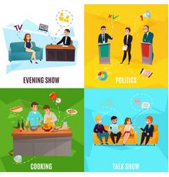Talk show concept vector