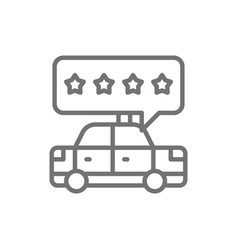 Taxi service rating service quality line icon vector