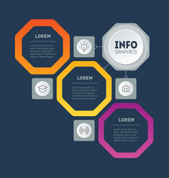 template tree or info chart infographic of vector image