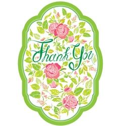 Thank you card 2 380 vector