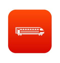 train icon digital red vector image