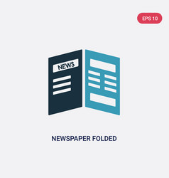 two color newspaper folded icon from user vector image