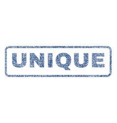 unique textile stamp vector image