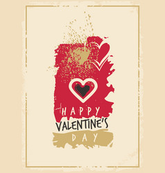 valentines day greeting card template vector image vector image