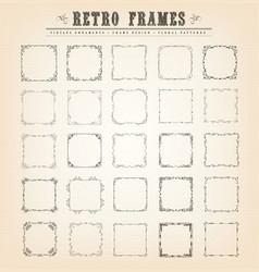 Vintage old-fashioned frames vector
