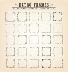 Vintage old-fashioned frames vector