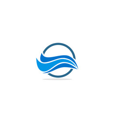 wave water round abstract logo vector image
