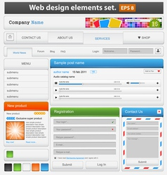 Web design elements set vector