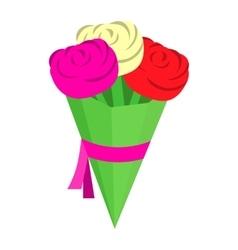 Wedding bouquet isometric 3d icon vector image