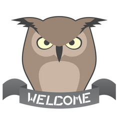 Welcome owl vector