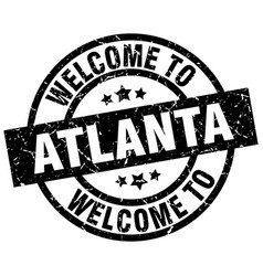 welcome to atlanta black stamp vector image