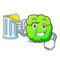 With juice shrub mascot cartoon style vector