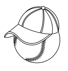 baseball with cap side view graphic vector image