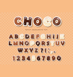 paper cut out abc letters and numbers made of vector image vector image