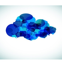 Cloud computing - vector image