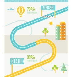 Road Map Infographics Template vector image
