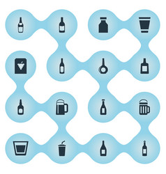 set of simple water icons vector image vector image