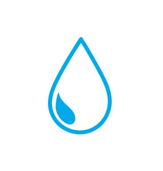 silhouette natural water drop to environment care vector image vector image