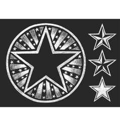 Star shape on the chalkboard vector image