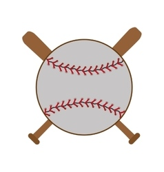 baseball and bats graphic vector image