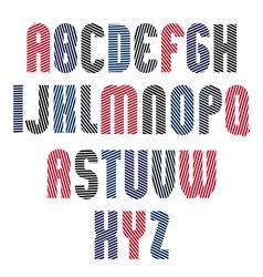 Decorative striped retro font geometric bright vector image vector image