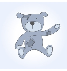 soft toy bear vector image vector image