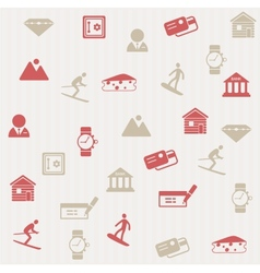 Switzerland seamless pattern vector image