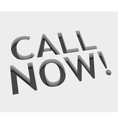 call now text design vector image
