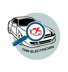 Car electrician logo template vector image