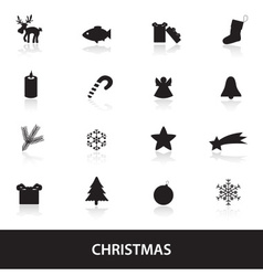 christmas icons eps10 vector image vector image