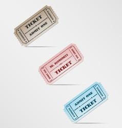 Colorful vintage ticket vector image vector image