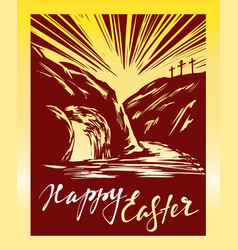 easter jesus christ rose from the dead sunday vector image