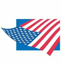 flag of USA vector image vector image