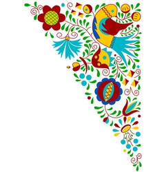 Moravian folk bird ornament vector image vector image