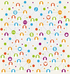 Social network internet chat community comm vector image vector image
