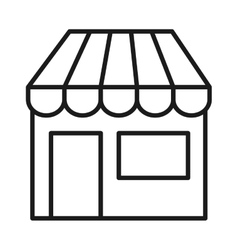 store front isolated icon design vector image