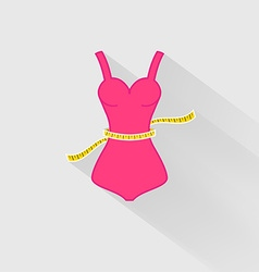 Weight loss the measurement of the waist vector