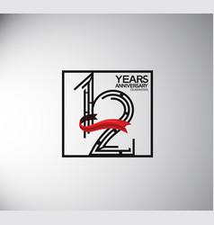 12 years anniversary logotype flat style vector