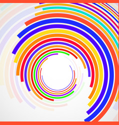 abstract background of colorful circles with lines vector image