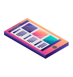 abstract smartphone icon isometric style vector image