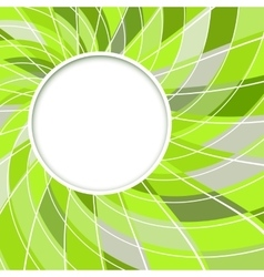 Abstract white round shape vector