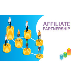 Affiliate partnership concept flat vector