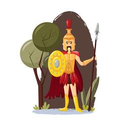 Ancient greek mythological god ares cartoon vector
